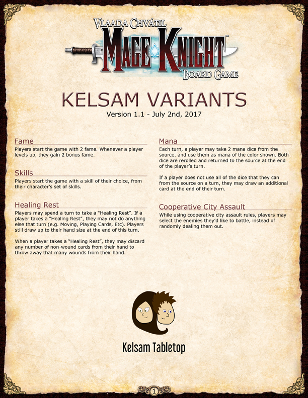 mage knight board game rules pdf